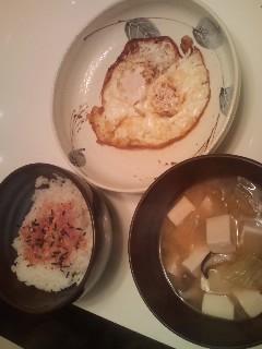 寒い日の朝はお味噌汁!