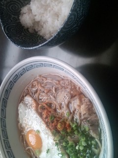 月見肉蕎麦のレシピ。