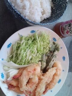 天ぷらしたら、更に暑い×2