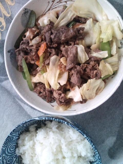 肉たっぷり野菜炒めん♪
