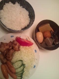 晩ご飯です。