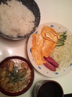 やっと、晩ご飯です!