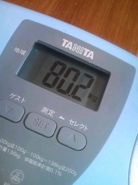 体重計…誤作動だよね?(苦笑)