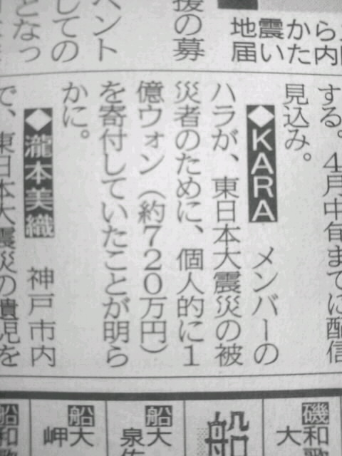KARA分裂騒動は和解!!!