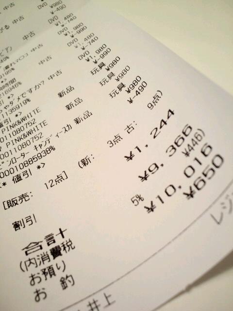 アダ○トショップで1万円使ってしまった!