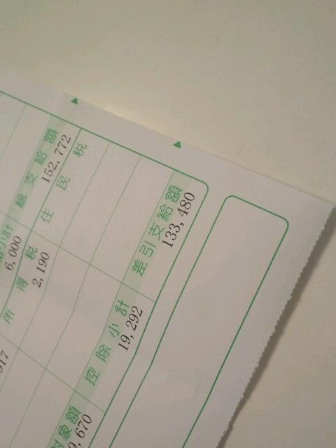 給料明細書(3月)